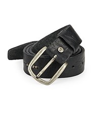 Will Leather Goods Anslem Leather Belt Black