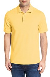 Nordstrom Men's Big And Tall Men's Shop 'Classic' Regular Fit Short Sleeve Oxford Pique Polo Yellow Vibrant