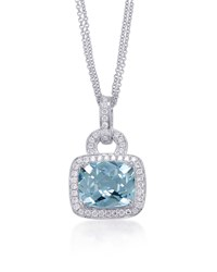 Roma Aquamarine And Diamond Pendant Necklace Frederic Sage Green