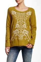 3J Workshop Embroidered Raglan Sweatshirt Multi