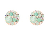 Betsey Johnson Blue Rose Gold Boost Crystal Stud Earrings Blue Rose Gold Earring