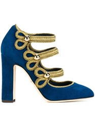 Dolce And Gabbana 'Vally' Mary Jane Pumps Blue