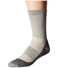 Icebreaker Hike Basic Medium Crew 1 Pair Pack Silver Black Oil Men's Crew Cut Socks Shoes Gray