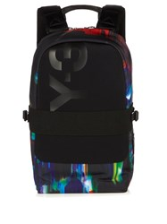 Y 3 Qasa Printed Nylon Backpack Black Multi