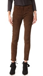 Paige Verdugo Suede Pants Dark Brown