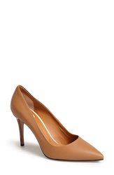 Fendi 'Anne' Pointy Toe Pump Women Brown