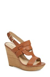 Women's Sole Society 'Jenny' Slingback Wedge Sandal Equestrian Tan