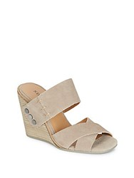 Kelsi Dagger Morten Suede Wedge Sandals Taupe