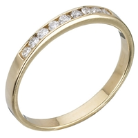 Ewa 18Ct Gold 0.18Ct Diamond Half Eternity Ring 18Ct Yellow Gold