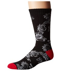 Huf Pigpen Dbc Crew Sock Black Men's Crew Cut Socks Shoes