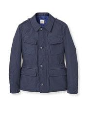 Mango Quilted Field Jacket Navy