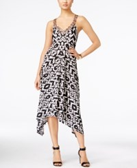 Inc International Concepts Printed Handkerchief Hem Dress Only At Macy's Painted Aztec
