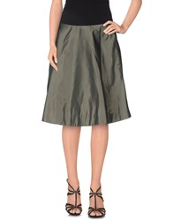 Marc By Marc Jacobs Skirts Knee Length Skirts Women Military Green
