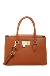 London Fog Darby Leather Satchel Brown