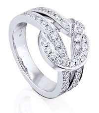 Boodles Knot Ring Female White Gold