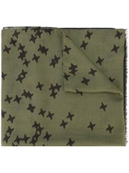 Dsquared2 Bundled Star Print Scarf Green