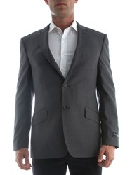 New And Lingwood Formal Oxford Twin Stripe Jacket Grey