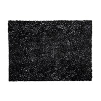 Chilewich Pressed Scribble Rectangle Placemat Black
