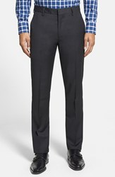 Men's Bonobos 'Foundation' Slim Fit Wool Trousers Charcoal