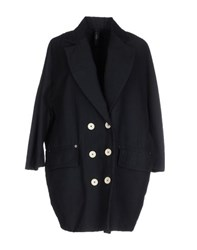 High Coats And Jackets Coats Women Dark Blue