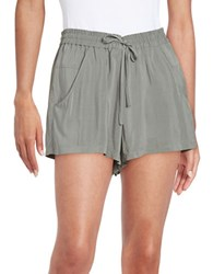 French Connection Crepe Shorts Tribal Green