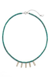 Anna Beck Women's Mini Bar Charm Beaded Necklace