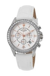 Rotary Women's Genuine Leather Watch White