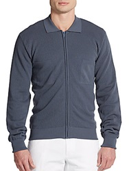 Dolce And Gabbana Cotton Zip Front Cardigan