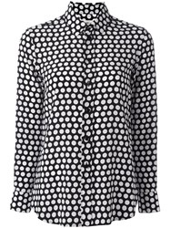 Saint Laurent Paris Collar Polka Dot Shirt Black