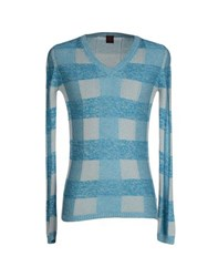 Happy Sheep Knitwear Jumpers Men Turquoise