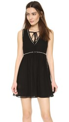 Mcq By Alexander Mcqueen Studded Tie Neck Dress Black