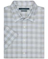 Perry Ellis Checked Button Front Short Sleeve Shirt