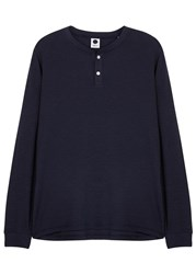 Nn.07 Harvey Navy Cotton Henley Top