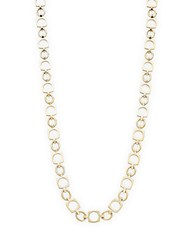A.L.C. Oval And Square Opera Length Necklace Gold