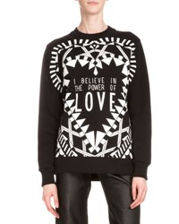 Givenchy Power Of Love Long Sleeve Graphic Sweatshirt Black