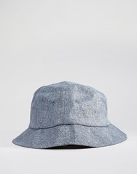 New Look Bucket Hat In Blue Chambray Navy