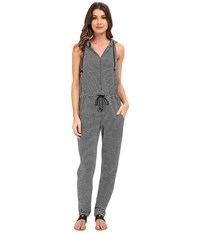 Mara Hoffman Stripe Jumpsuit Black White Women's Jumpsuit And Rompers One Piece