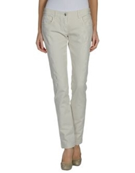 Dolce And Gabbana Denim Pants Ivory