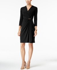 Charter Club Petite Crossover Wrap Dress Only At Macy's Deep Black