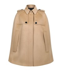 Burberry Wolseley Wool Cashmere Cape Female Camel