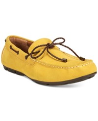Alfani Men's Trevor Braided Lace Drivers Only At Macy's Men's Shoes Yellow