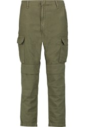 Rag And Bone Cargo Cotton Straight Leg Pants Army Green