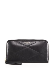 Lanvin Quilted Continental Wallet Black