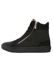 Boom Bap Celebration Hightop Trainers Caviar Black Black