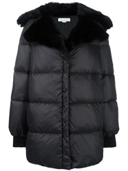 Stella Mccartney Oversized Faux Fur Padded Coat Black