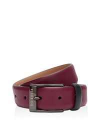 Ted Baker Wilson Leather Color Block Belt Deep Pink