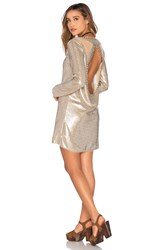Spell And The Gypsy Collective Bond Girl Mini Dress Metallic Gold