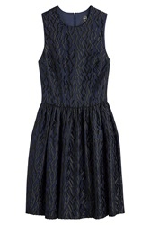 Mcq By Alexander Mcqueen Mcq Alexander Mcqueen Embroidered Mini Dress Blue