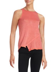 Red Haute Asymmetrical Tank Coral