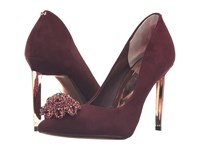 Ted Baker Peetch Burgundy Suede High Heels